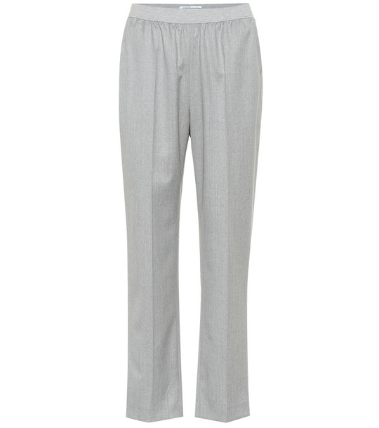 Agnona Wool and cashmere-blend pants in grey
