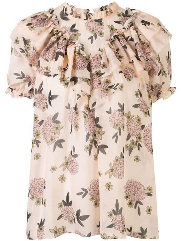 Macgraw Migration floral top in neutrals