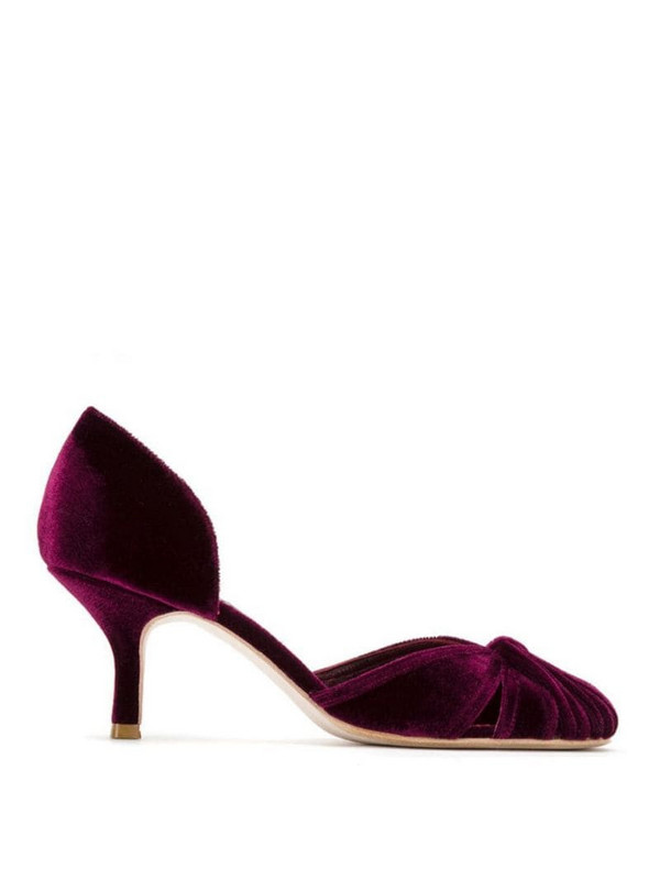 Sarah Chofakian suede pumps in purple