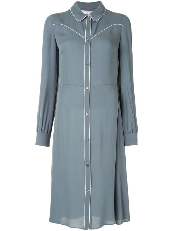 Valentino Pre-Owned piping detail shirt dress in blue