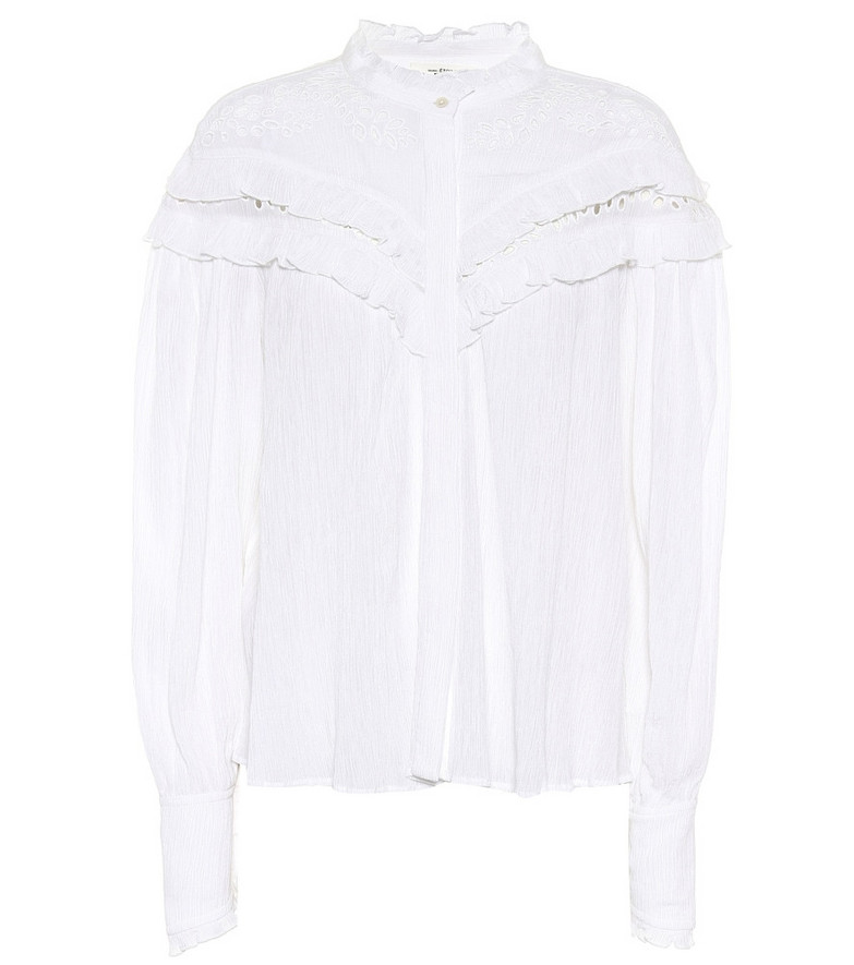 Isabel Marant, Étoile Izae cotton-blend blouse in white