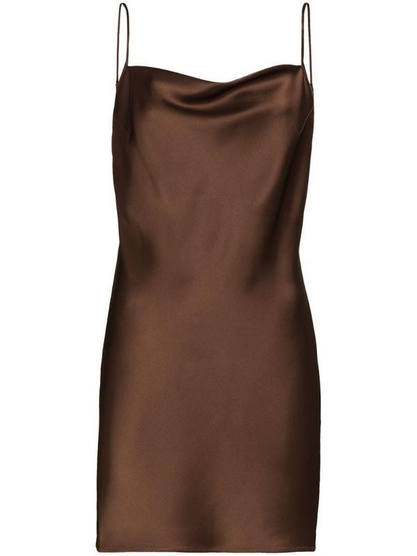 Nanushka Lotti fitted mini dress in brown