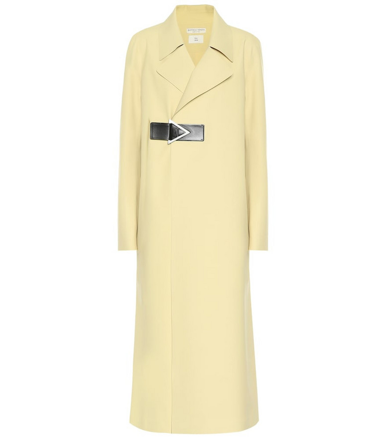 Bottega Veneta Rubber trench coat in yellow