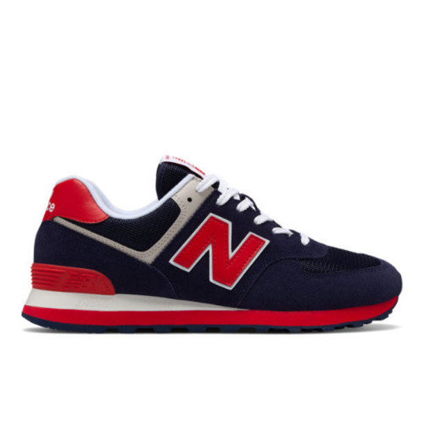 New Balance 574 Essentials Men's 574 Shoes - Navy/Red (ML574MUA)
