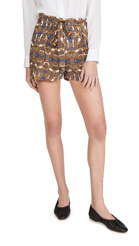 L'AGENCE Alex Paperbag Shorts in yellow