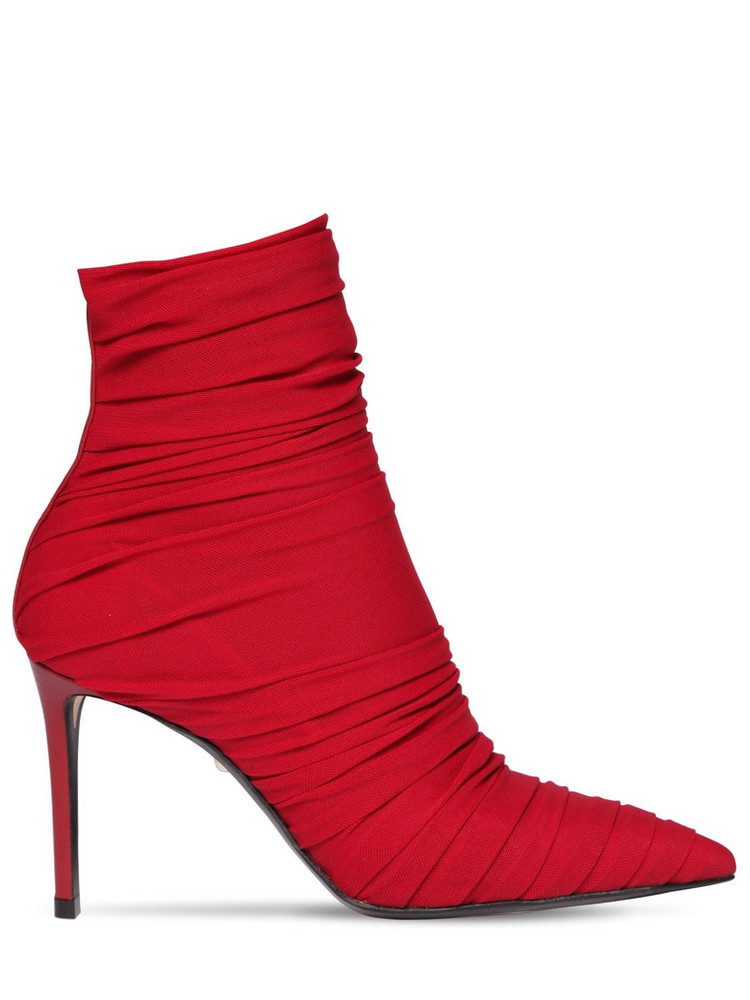 ALEVÌ 80mm Gaia Mesh Ankle Boots in red
