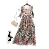 dress,embroidered dress