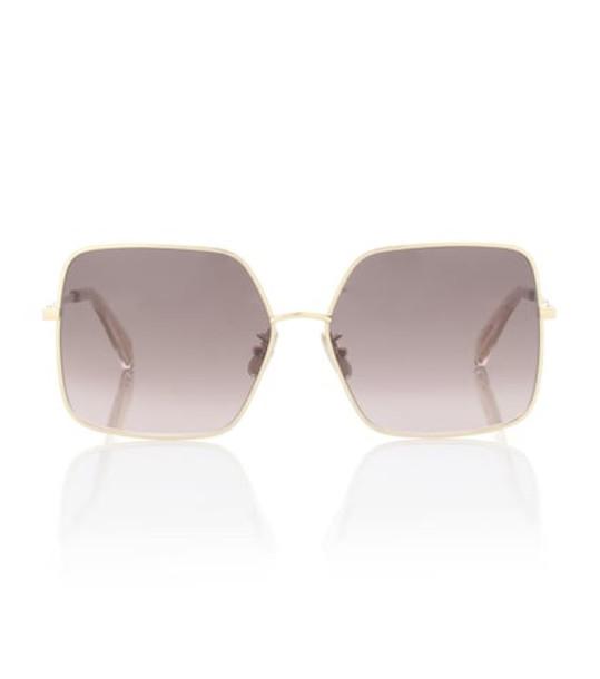 Celine Eyewear Oversized square sunglasses in gold