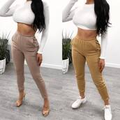 pants,beige pants