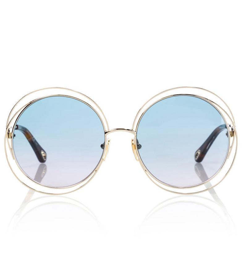 Chloé Carlina round sunglasses in blue