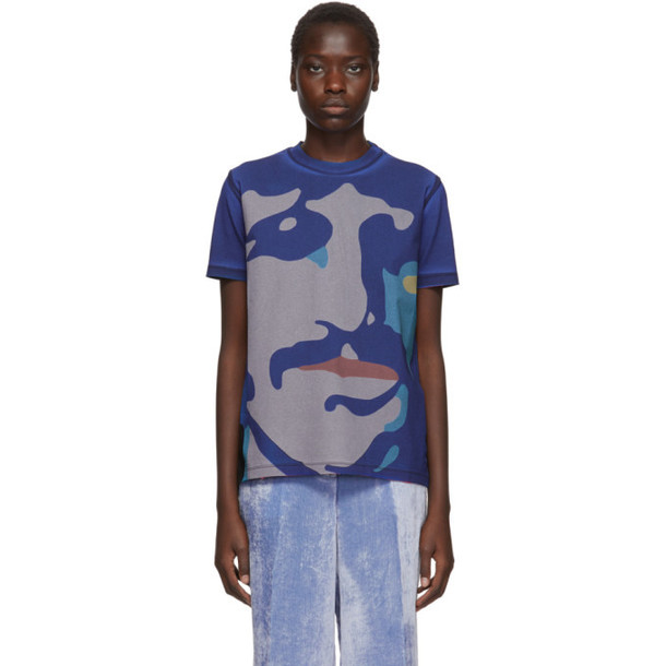 Stella McCartney Multicolor The Beatles Edition Oversized Ringo Starr and George Harrison T-Shirt in multi