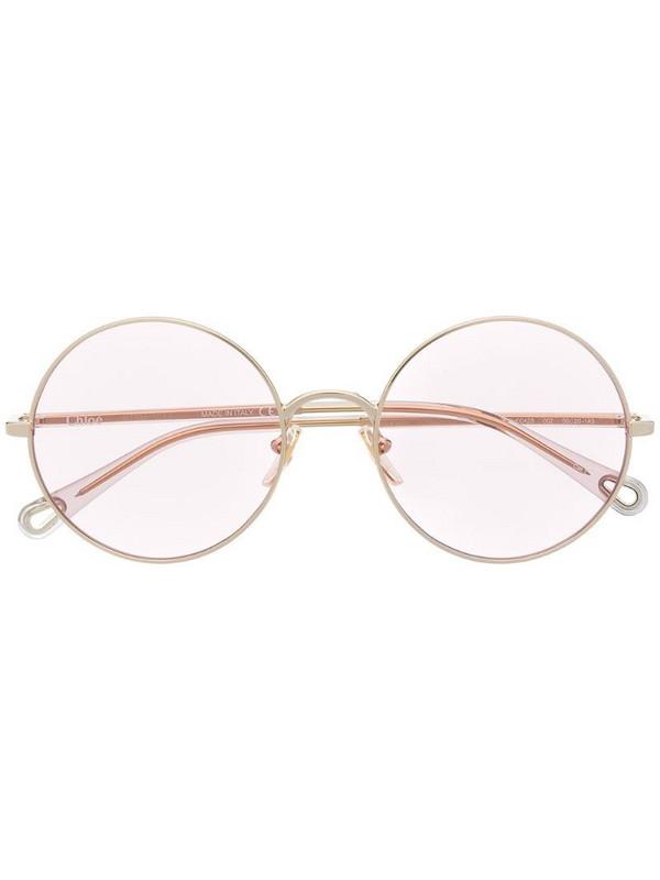 Chloé Eyewear convertible sunglasses in gold