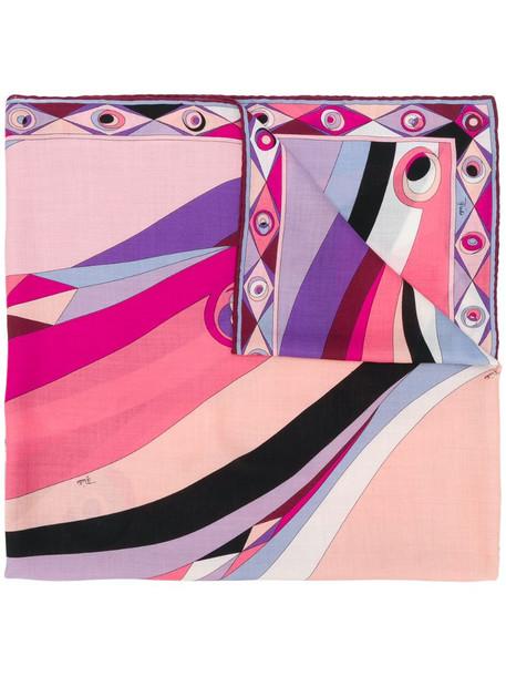Emilio Pucci Occhi-print scarf in pink