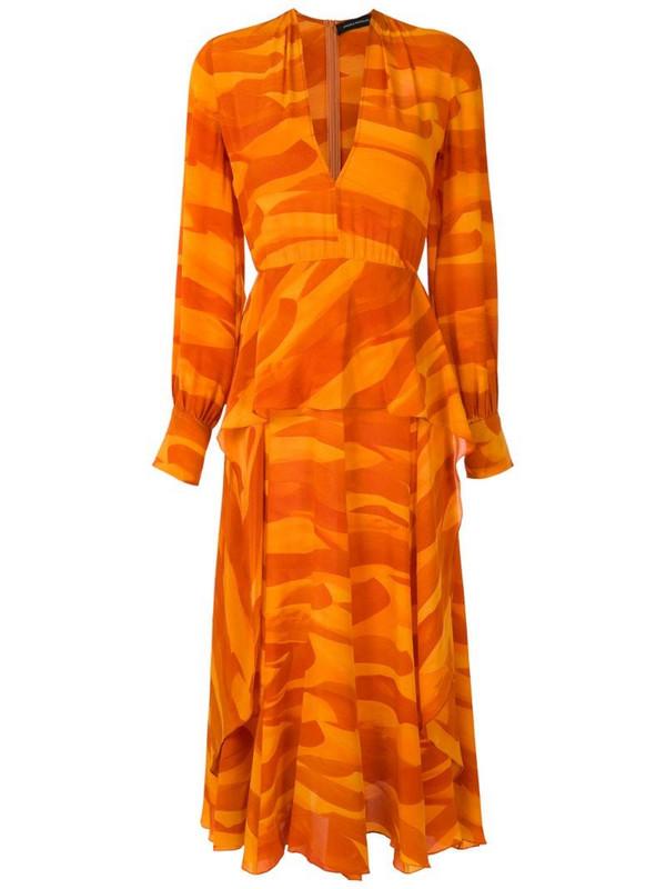 Andrea Marques silk dress in orange