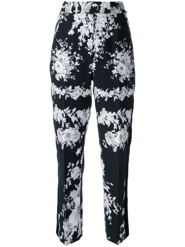 Ingie Paris floral tailored trousers in black