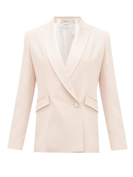 Pallas X Claire Thomson-jonville - Eden Double-breasted Crepe Suit Jacket - Womens - Light Pink