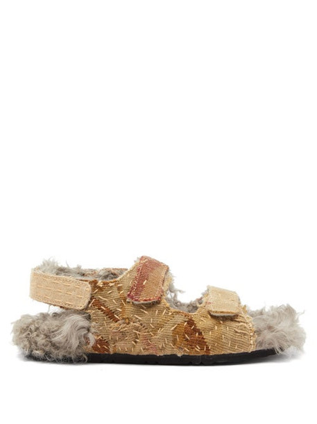 By Walid - Felix 17th Century Shearling Lined Sandals - Womens - Multi