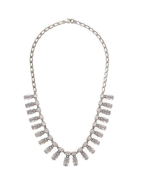 Bottega Veneta - Cubic Zirconia And Sterling Silver Necklace - Womens - Silver