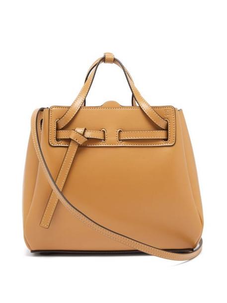 Loewe - Lazo Mini Leather Tote Bag - Womens - Beige