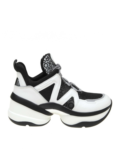 Michael Kors Sneakers Olympia Trainer White And Black Color