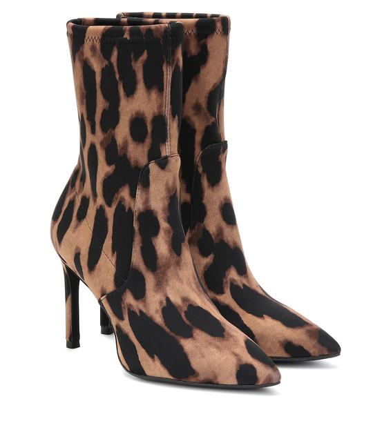 Stuart Weitzman Wren 95 leopard-print ankle boots