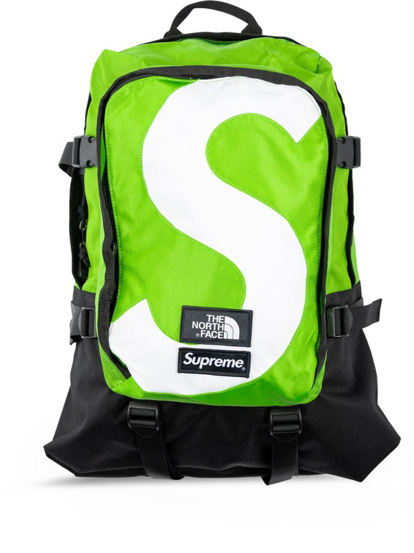 Supreme x The North Face S logo backpack in green