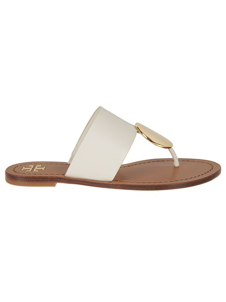 Tory Burch Disk Sandals in navy / gold