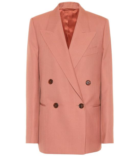 Acne Studios Wool-blend blazer in red