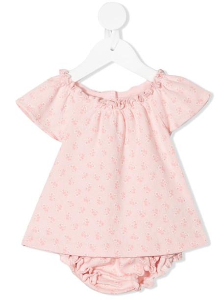 Bonpoint floral-print cotton romper - Pink