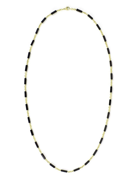 Sylva & Cie 18kt yellow gold onyx bead Lucca necklace