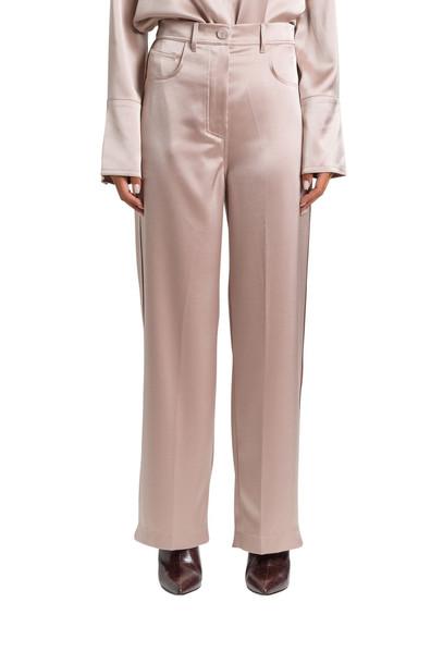 Nanushka Satin Wide-leg Trousers in beige