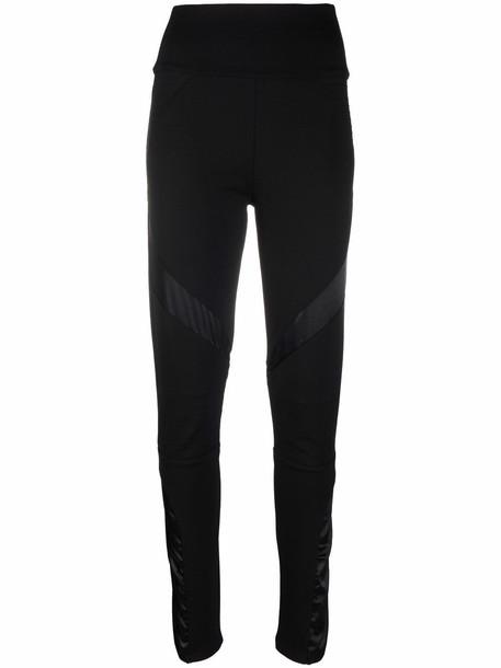 Philipp Plein logo biker leggings - Black