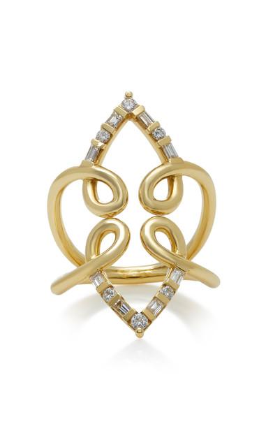 ARK Venus 18K Gold Diamond Ring Size: 7