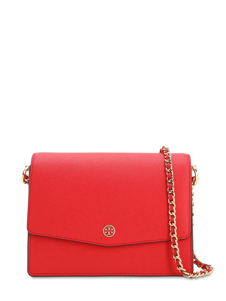 TORY BURCH Robinson Leather Shoulder Bag in red