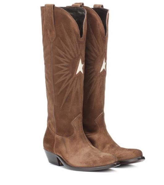 Golden Goose Deluxe Brand Wish Star suede cowboy boots in brown