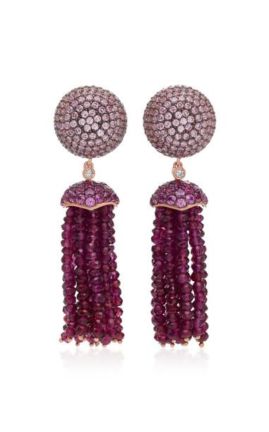 Anabela Chan Rose Bauble 18K Rose Gold Vermeil Multi-Stone Earrings in pink