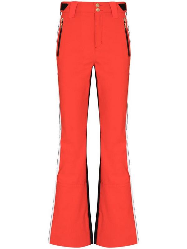 P.E Nation Amplitude flared ski trousers in red