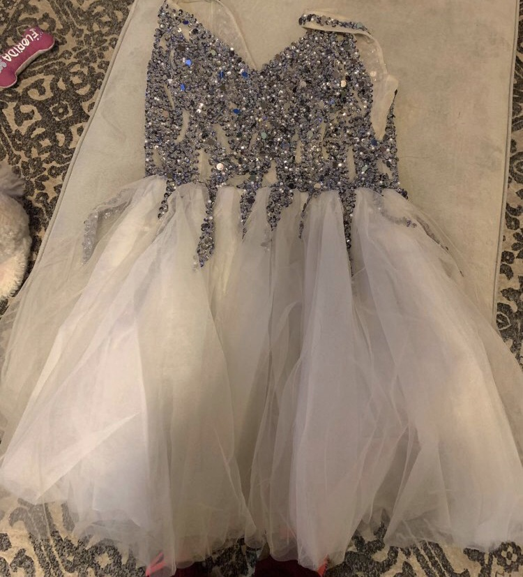 dress ceremony sequin dress sequins pretty princess wedding dresses