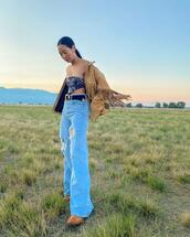 jeans,jacket,belt