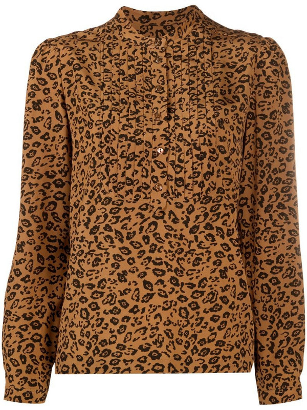 A.P.C. leopard-print blouse in brown