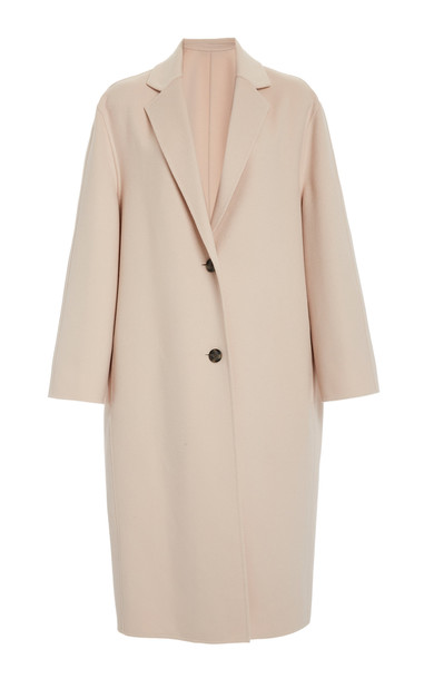Joseph Newman Wool and Cashmere-Blend Coat in pink