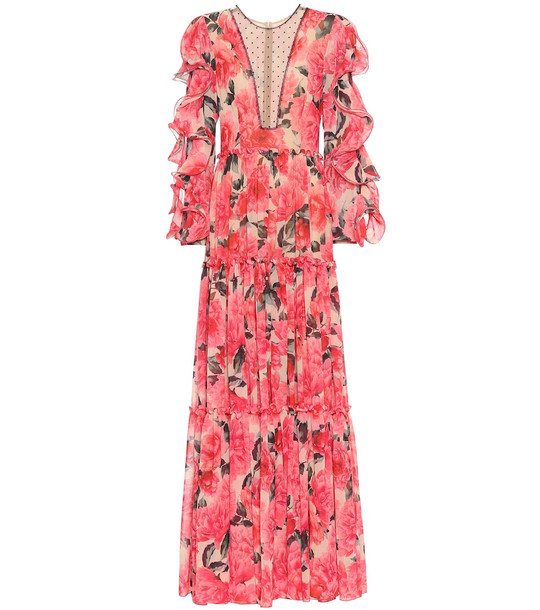 Costarellos Floral gown in red