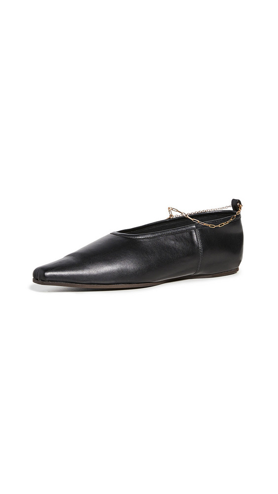 Stella McCartney Ballerina Anklet Flats in black