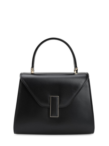 VALEXTRA Mini Iside Suede & Leather Bag in nero