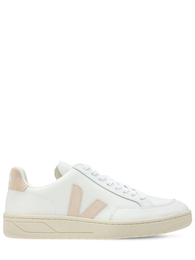 VEJA 20mm V-12 Leather Sneakers in white