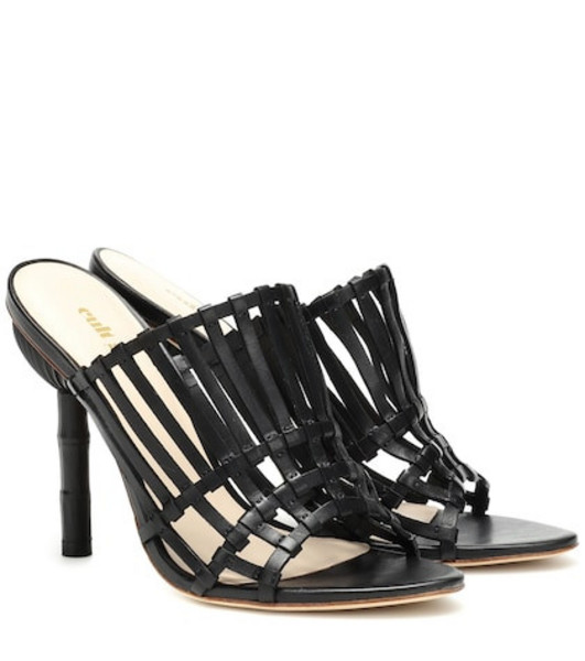 Cult Gaia Ark leather sandals in black