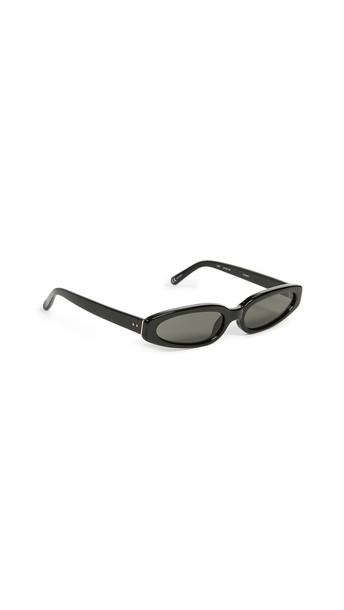 Linda Farrow Luxe Super Thin Acetate Sunglasses in gold / grey / yellow