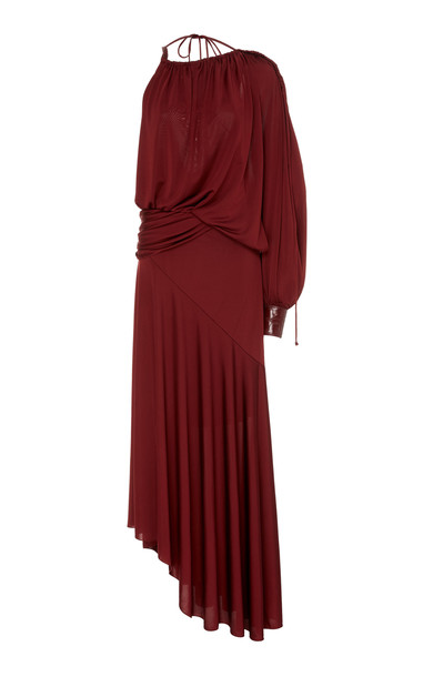 Sies Marjan Gia Satin-Jersey Gown Size: 2 in red