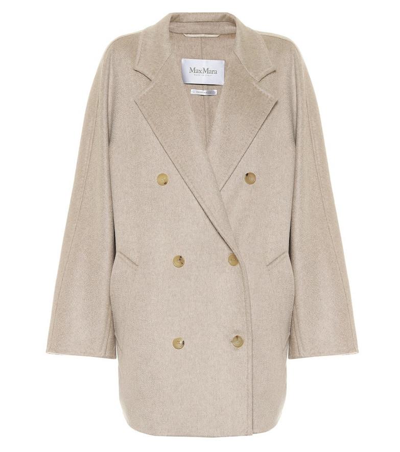 Max Mara Sella cashmere coat in beige
