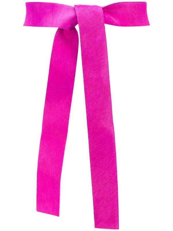 Forte Forte tie fastening waist belt in pink